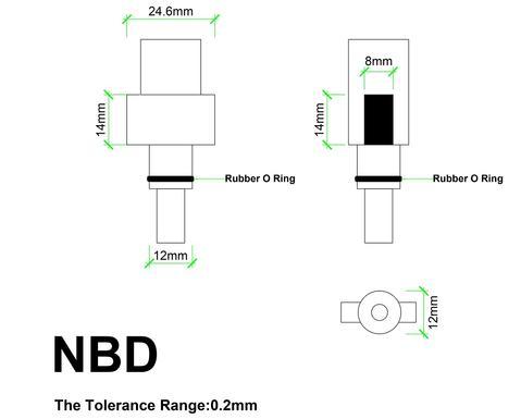 Bosch AQT, black & decker connector dimension